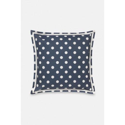 Twill Spot Cushion Button Spot Twill Navy