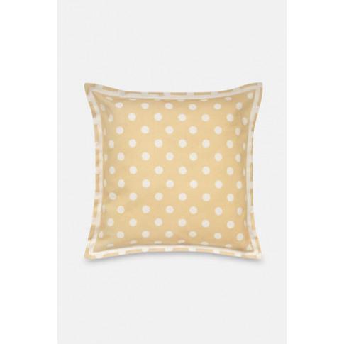 Twill Spot Cushion Button Spot Twill Yellow