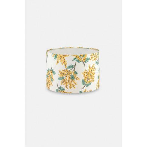 Golden Mimosa Flower Print Lampshade