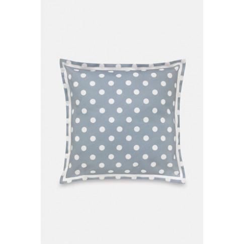 Twill Spot Cushion Button Spot Twill Grey