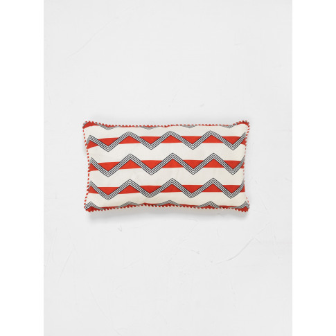 Ottoline Moroccan Stripes Cushion Red