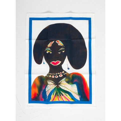 Third Drawer Down Chris Ofili Afromuses Woman Tea Towel