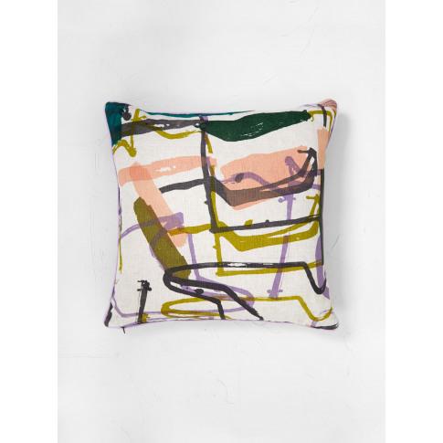 Laura Slater Monolith Printed Linen Cushion