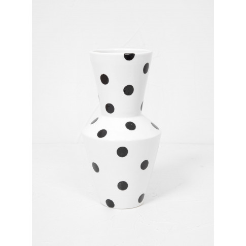 Mani By Britta Herrmann Tubolare Medium Vase Black Dots