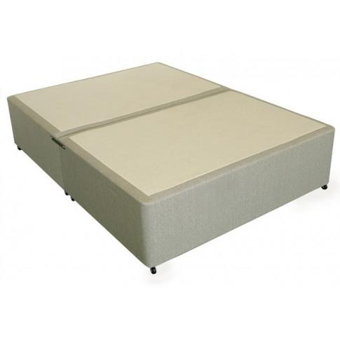 Deluxe 2ft 6in Small Single Divan Bed Base In Beige ...