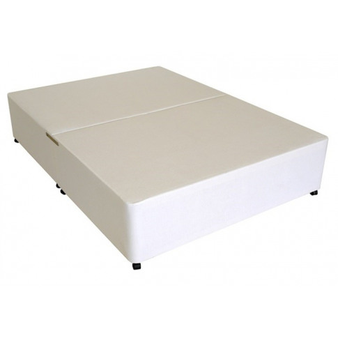 Deluxe 2ft 6 Small Single Divan Bed Base Only In Whi...