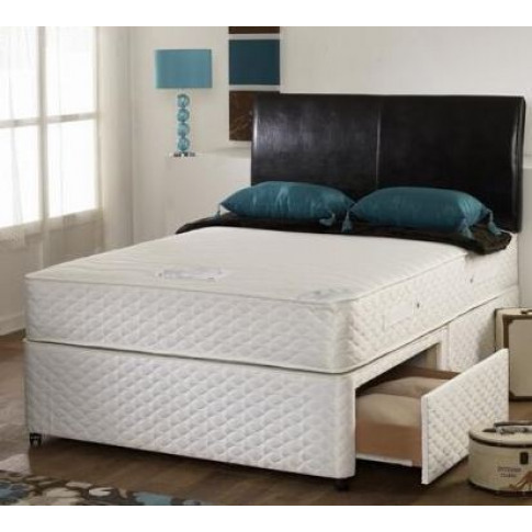 Pearl Memory Foam 5ft King Size Zip And Link Divan Bed
