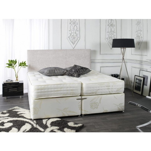 Elite Cream 6ft Super King Size Zip & Link Orthopaedic Divan Bed