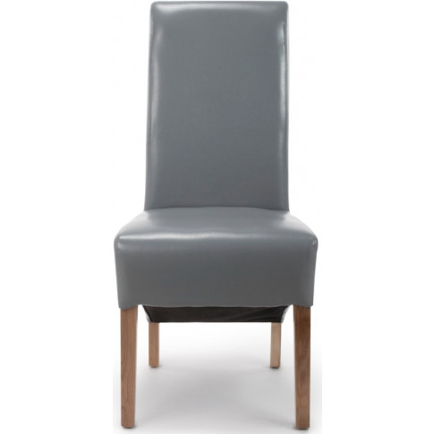 Krista Grey Leather Match Roll Back Dining Chair