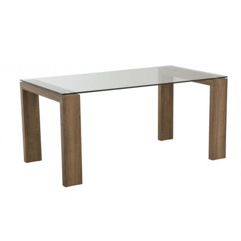 Casa Oak Glass 130cm Rectangular Dining Table