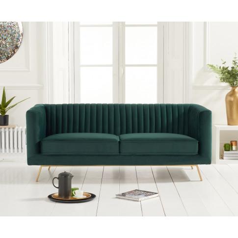 Danielle Green Velvet 2 Seater Sofa