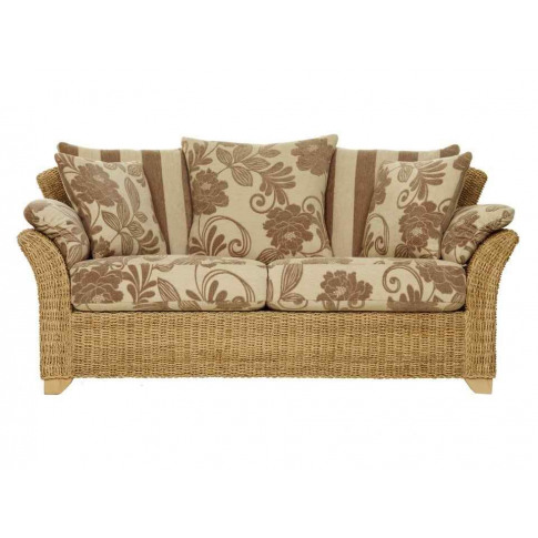 Cane Garda 2.5 Seater With Scatter Back Cushions & W...