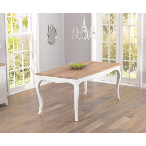Sienna Acacia And Painted Ivory 175cm Rect. Dining Table