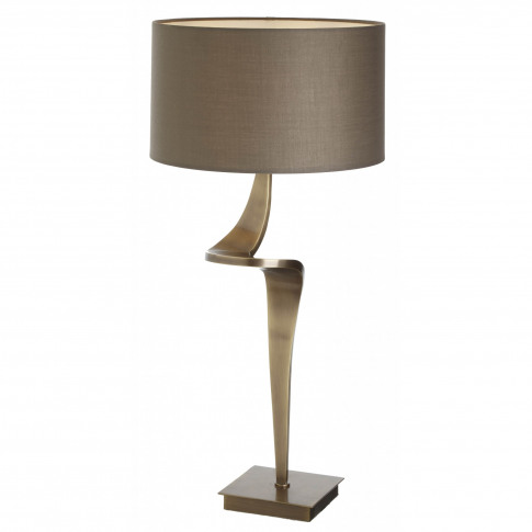 Rv Astley Enzo Antique Brass Table Lamp (Left)