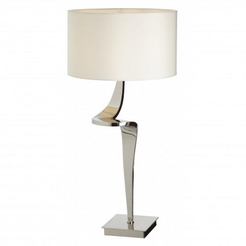 Rv Astley Enzo Nickel Table Lamp (Left)