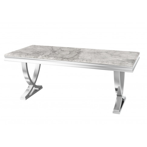 Fairmont Maria 200cm Rect Grey Marble Dining Table