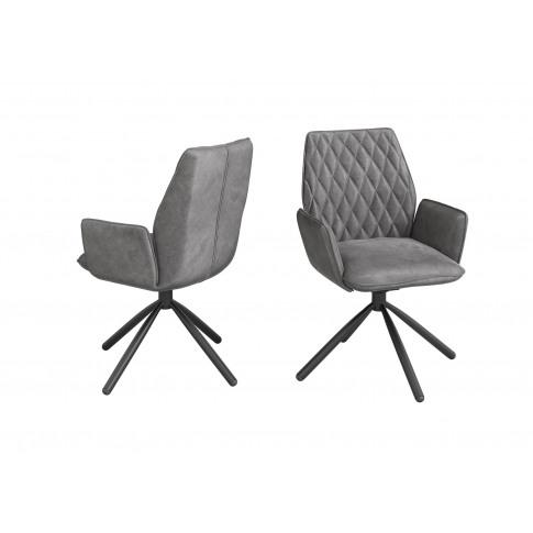 Fairmont Zanetti Dark Grey Velvet Dining Chair
