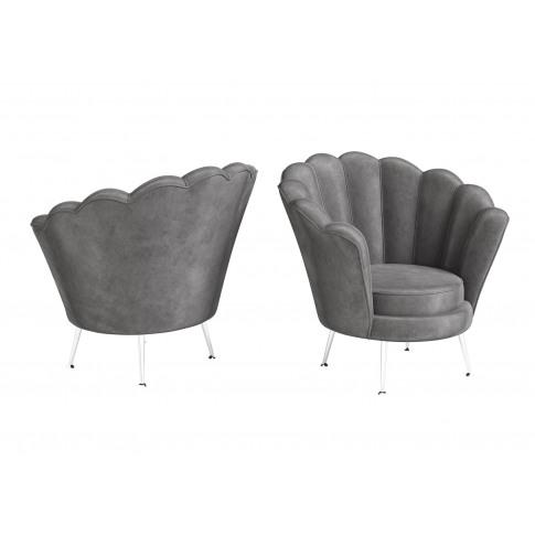 Fairmont Erica Dark Grey Velvet Lounge Chair