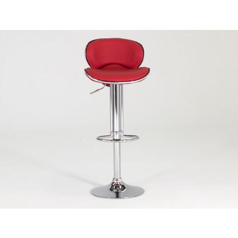 Nigella Red Leather Barstool