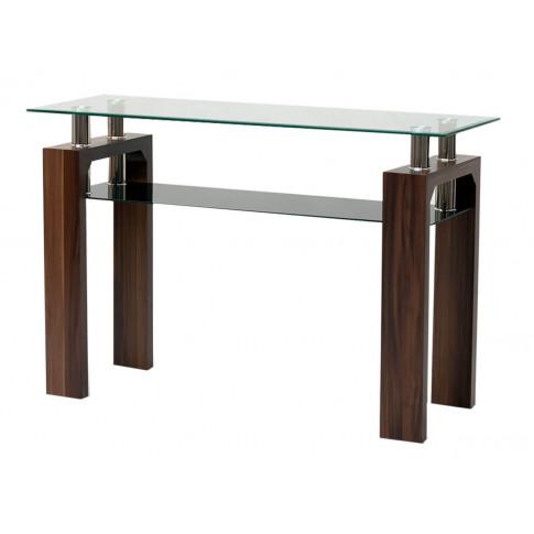 Maya Walnut Glass Console Table