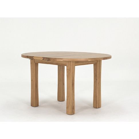 Breeze 107/140cm Round Ext. Oak Dining Table