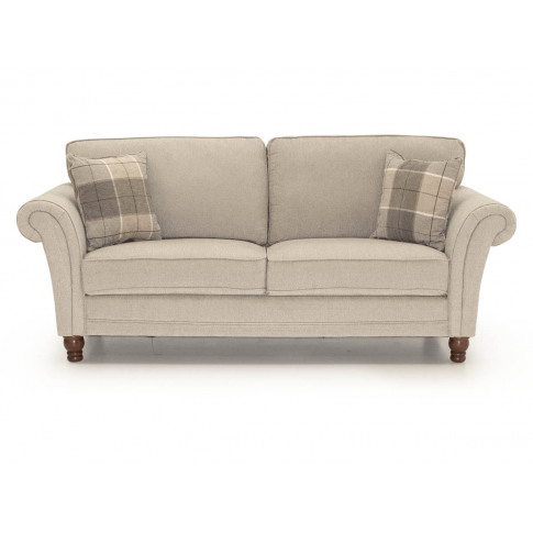 Helmsdale Pewter 3 Seater Fabric Sofa