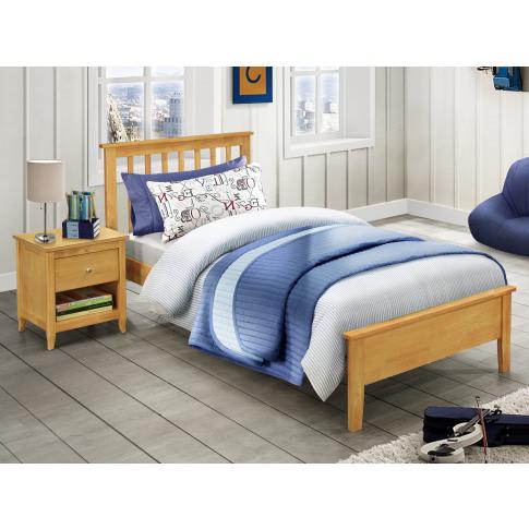 Annecy Oak 3ft Single Low Footend Bed