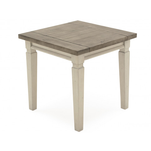 Croft Weathered Ash Wooden Lamp Table