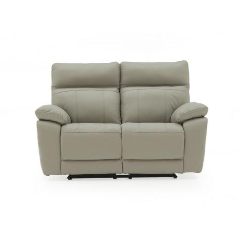 Positano Light Grey Leather 2 Seater Recliner Sofa