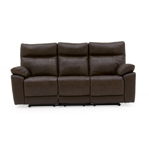 Positano Brown Leather 3 Seater Recliner Sofa