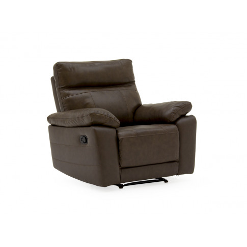 Positano Brown Leather 1 Seater Recliner Armchair