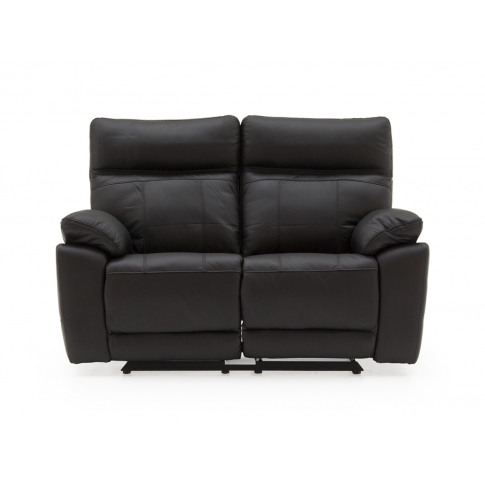 Positano Black Leather 2 Seater Recliner Sofa
