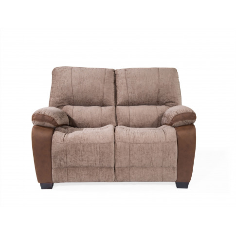 Hastings Brown Fabric 2 Seater Fixed Sofa