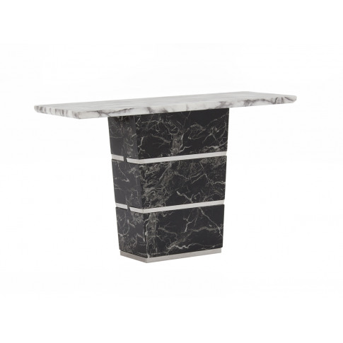 Valdina Off White Marble Console Table