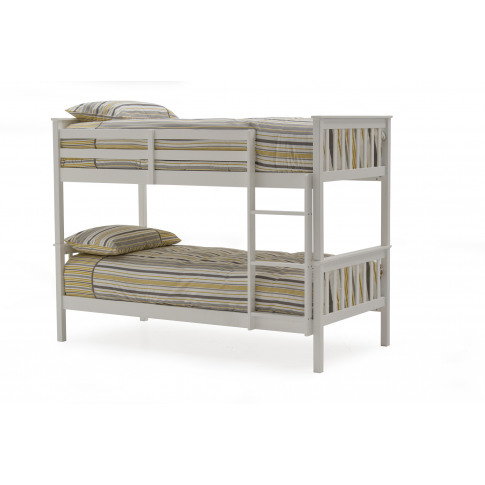 Salix White 3ft And 4ft6 Wooden Bunk Bed