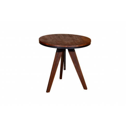 Durango Large Wooden Round Lamp Table