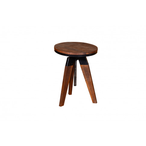 Durango Small Wooden Round Lamp Table