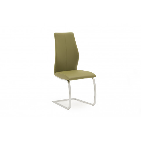 Elis Olive Faux Leather Dining Chair