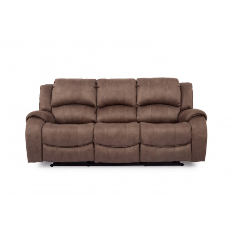 Darwin Biscuit 3 Seater Recliner Fabric Sofa