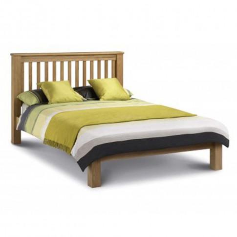 Julian Bowen Amsterdam Oak Low Foot End  6ft Super Kingsize Bed