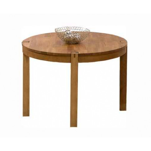 Verona Solid Oak 120cm Round Dining Table In A Finge...
