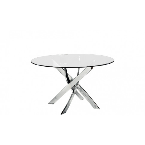 Chelsom Cluster 130cm Circular Glass Dining Table