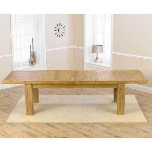 Laurent Solid Oak 230cm Extending Dining Table Exten...