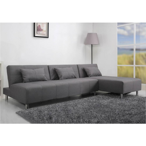 Maison Pearl Grey Large Fabric Platform Sofa Bed