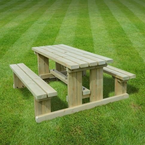 Rutland Tinwell 3ft Light Green Junior Picnic Bench