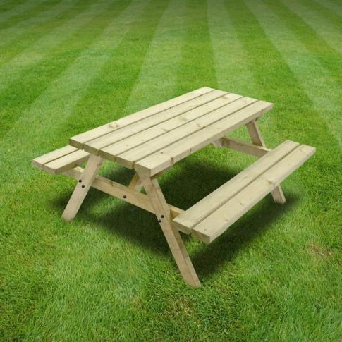 Rutland Oakham 4ft Light Green Junior Picnic Bench