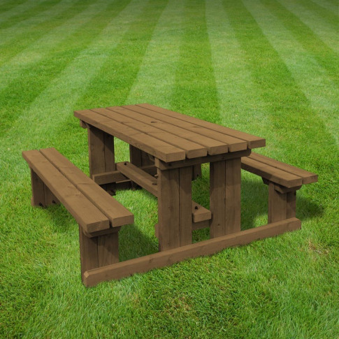 Rutland Tinwell 5ft Rustic Brown Junior Picnic Bench