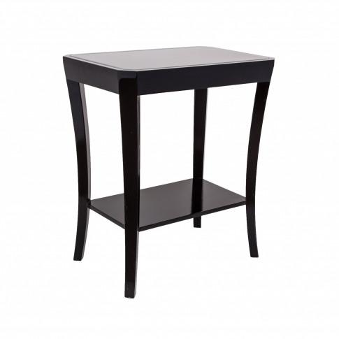 Rv Astley Hyde Black Glass Side Table