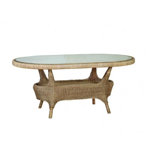 Cane Amalfi Oval Dining Table