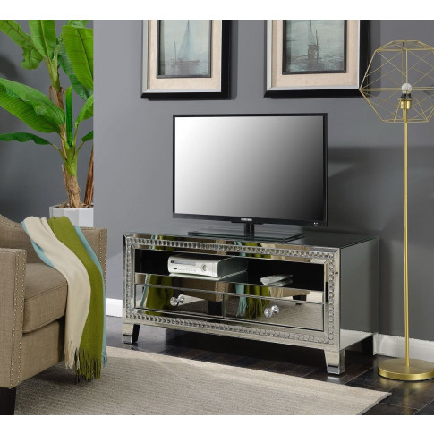 Loughton Silver Mirrored Tv Unit